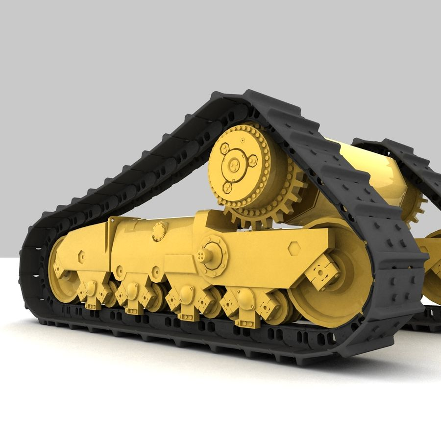 Rigged tracks royalty-free 3d model - Preview no. 4