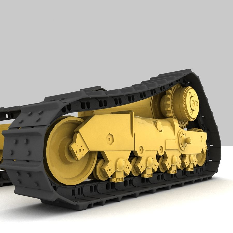 Rigged tracks royalty-free 3d model - Preview no. 3