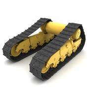 Rigged tracks 3d model