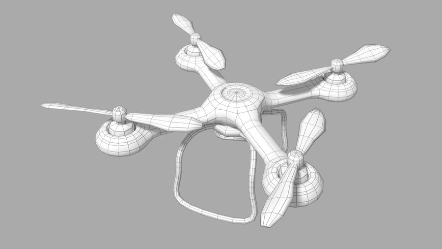 Quadcopter Drone royalty-free 3d model - Preview no. 3