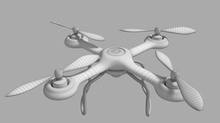 Quadcopter Drone royalty-free 3d model - Preview no. 4