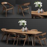 Tabel + Chair_set_001 3d model