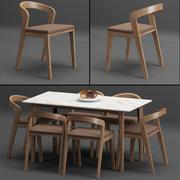 Tabel + Chair_set_002 3d model