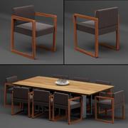 Tabel + Chair_set_003 3d model