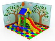 Terreno di gioco 3d model