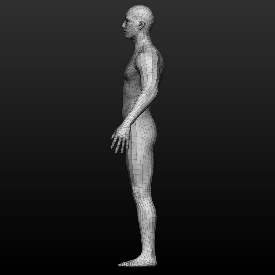 Base mesh male body royalty-free 3d model - Preview no. 3