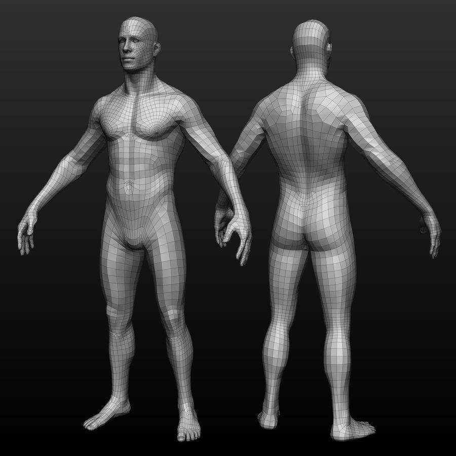 Base mesh male body royalty-free 3d model - Preview no. 1
