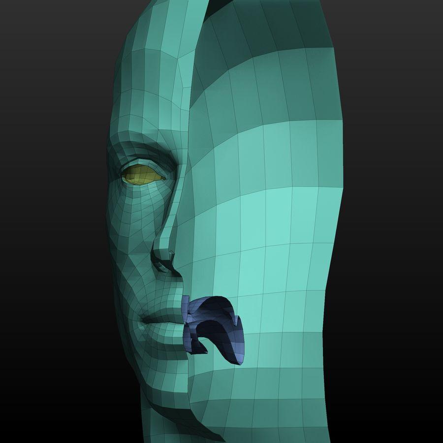 Base mesh male body royalty-free 3d model - Preview no. 8