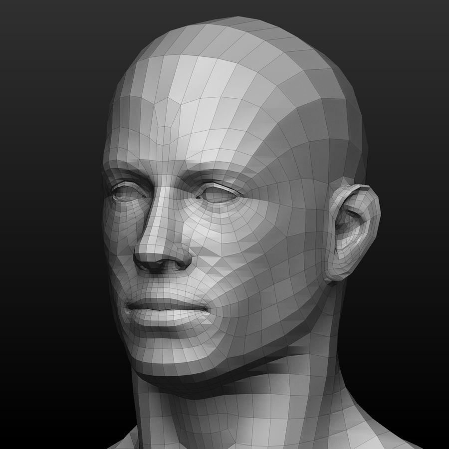 Base mesh male body royalty-free 3d model - Preview no. 7