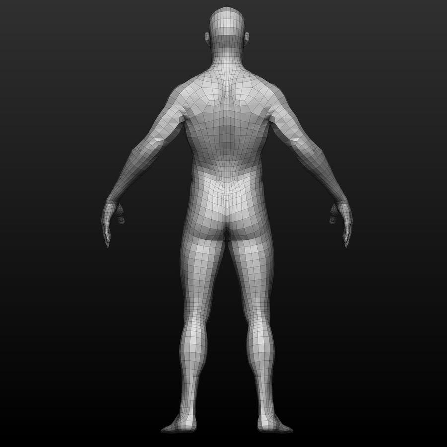 Base mesh male body royalty-free 3d model - Preview no. 4