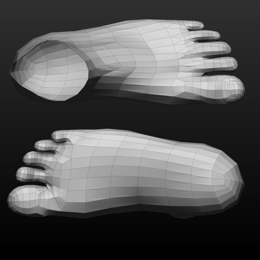 Base mesh male body royalty-free 3d model - Preview no. 6