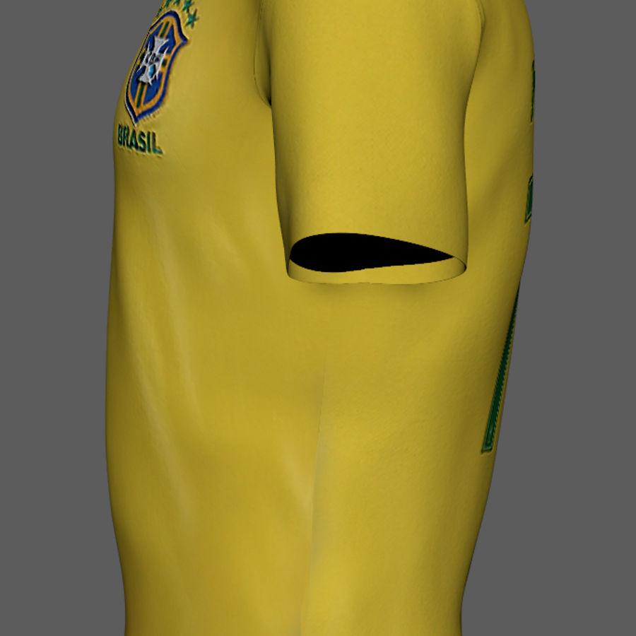 Soccer Shirt Brasil royalty-free 3d model - Preview no. 10