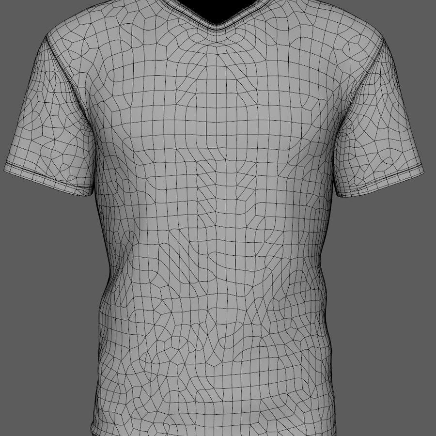 Soccer Shirt Brasil royalty-free 3d model - Preview no. 6