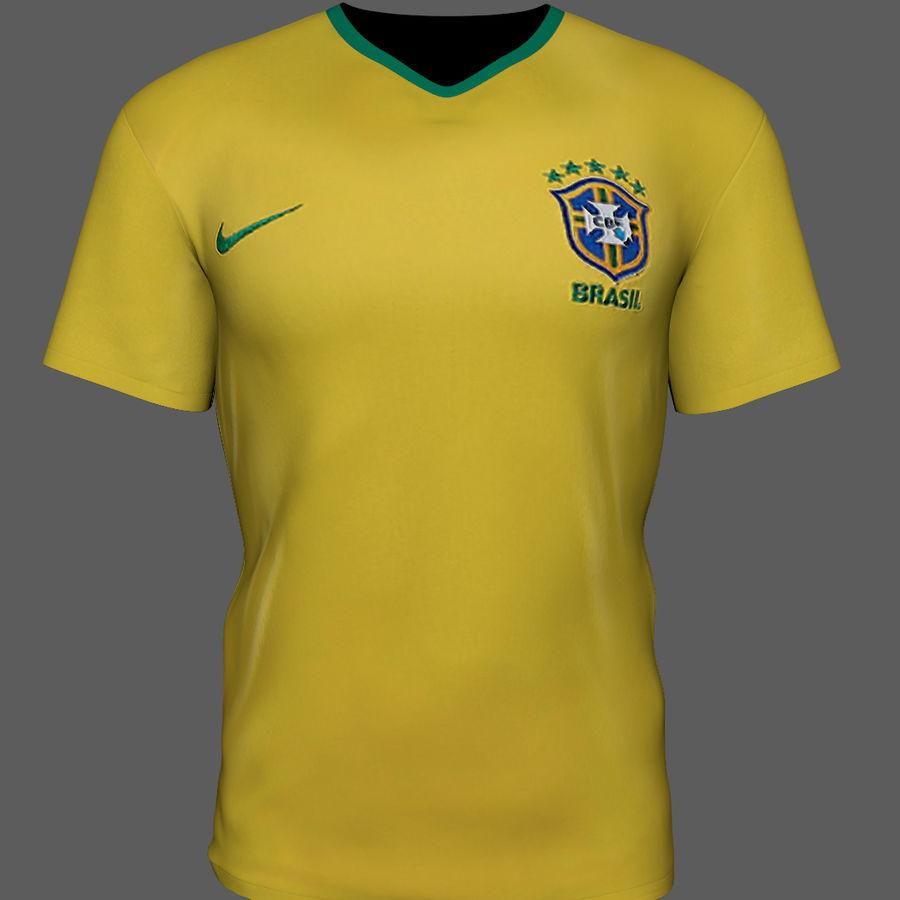 Soccer Shirt Brasil royalty-free 3d model - Preview no. 5