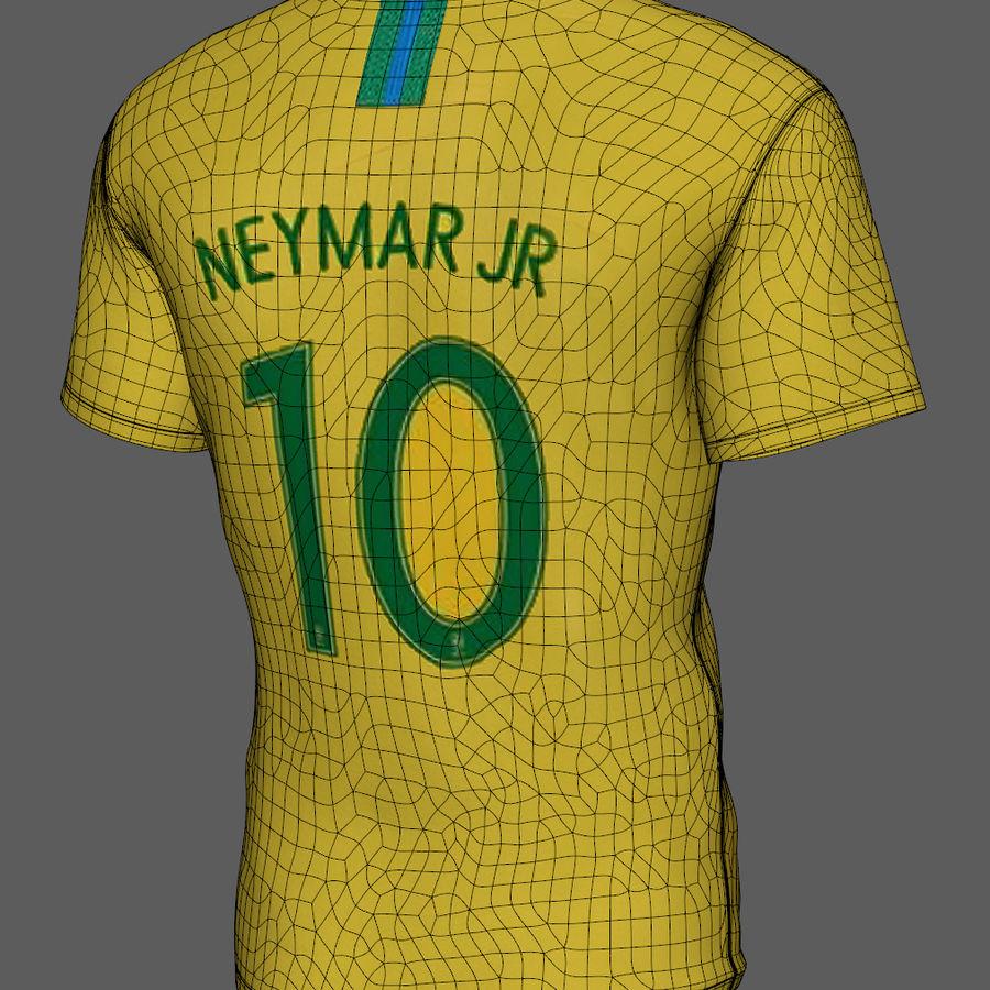 Soccer Shirt Brasil royalty-free 3d model - Preview no. 9