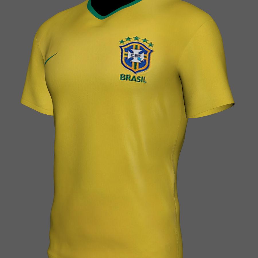 Soccer Shirt Brasil royalty-free 3d model - Preview no. 7