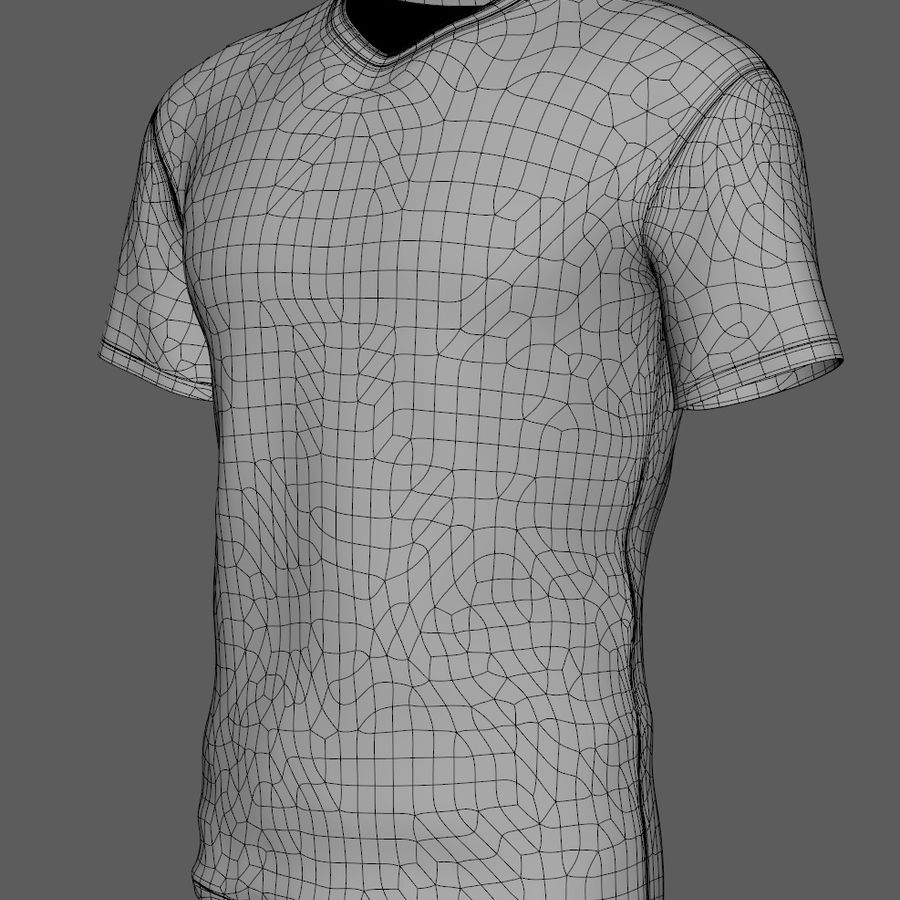 Soccer Shirt Brasil royalty-free 3d model - Preview no. 8