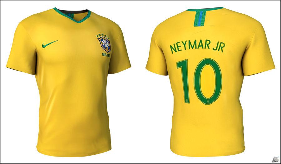 Soccer Shirt Brasil royalty-free 3d model - Preview no. 1