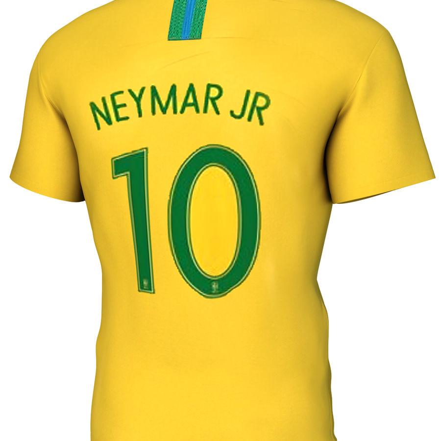 Soccer Shirt Brasil royalty-free 3d model - Preview no. 4