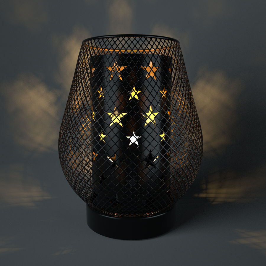 candle holder royalty-free 3d model - Preview no. 3