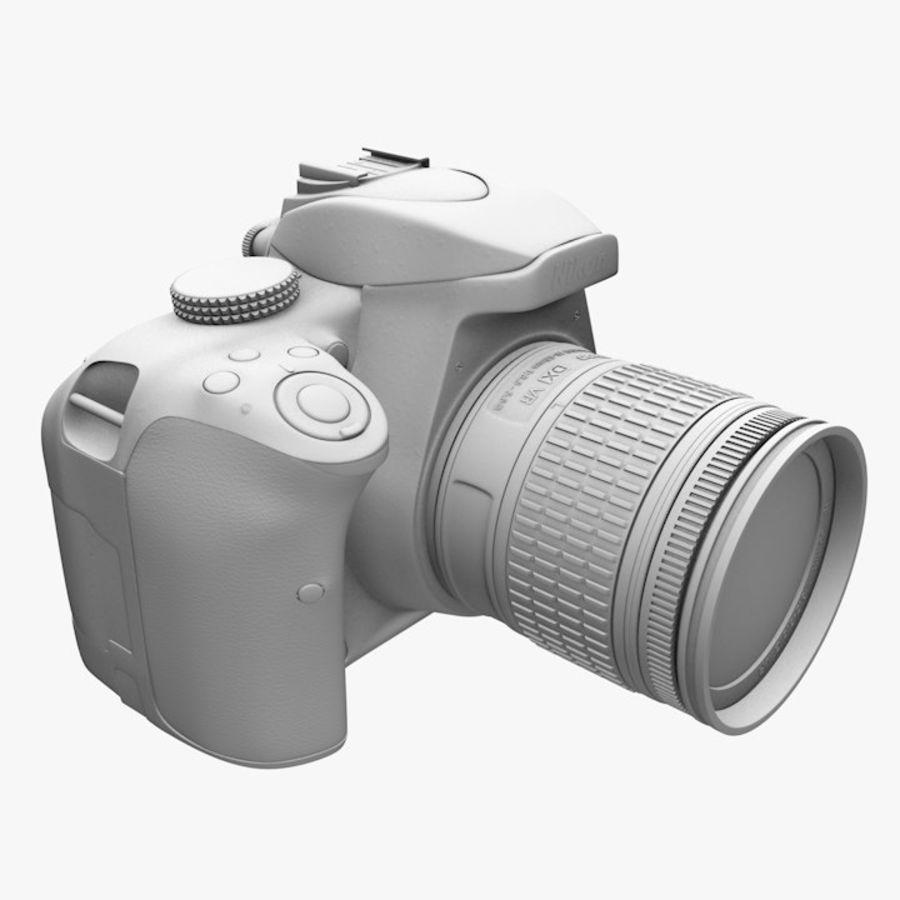 Nikon D3400 royalty-free 3d model - Preview no. 16