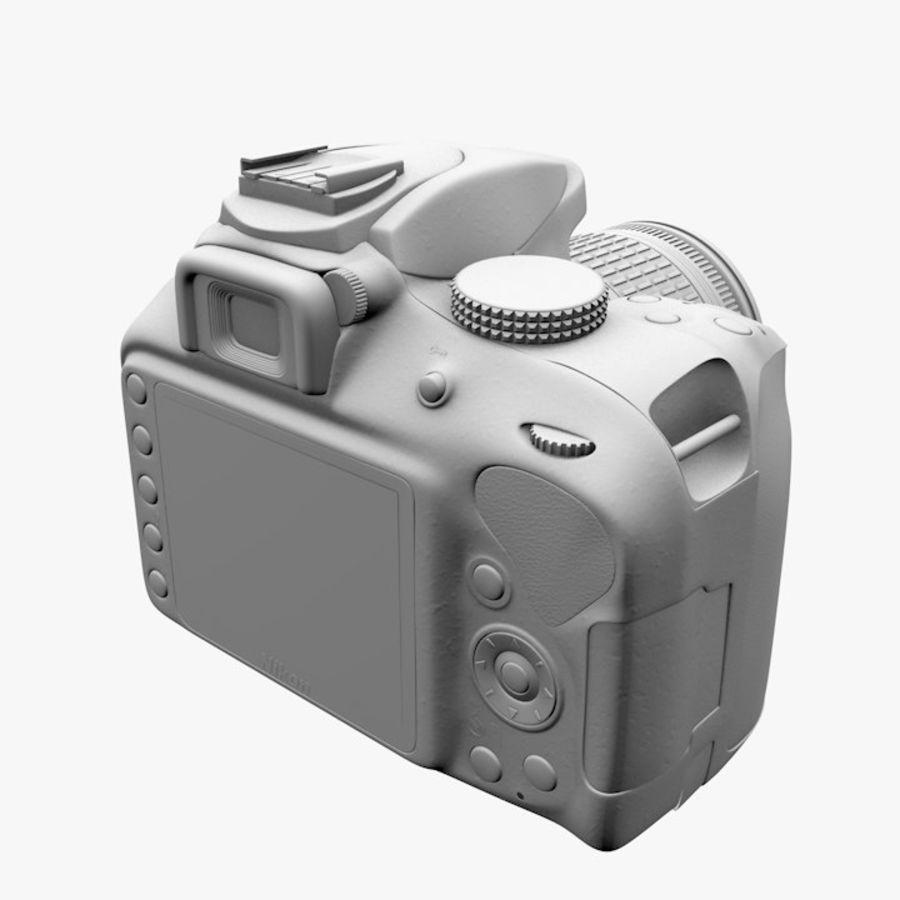 Nikon D3400 royalty-free 3d model - Preview no. 15