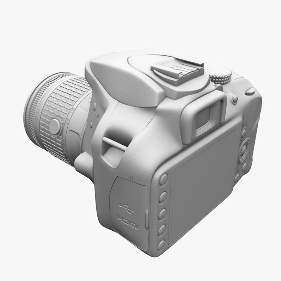 Nikon D3400 royalty-free 3d model - Preview no. 14