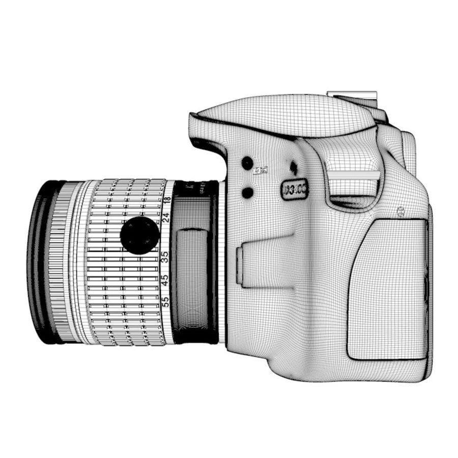 Nikon D3400 royalty-free 3d model - Preview no. 21
