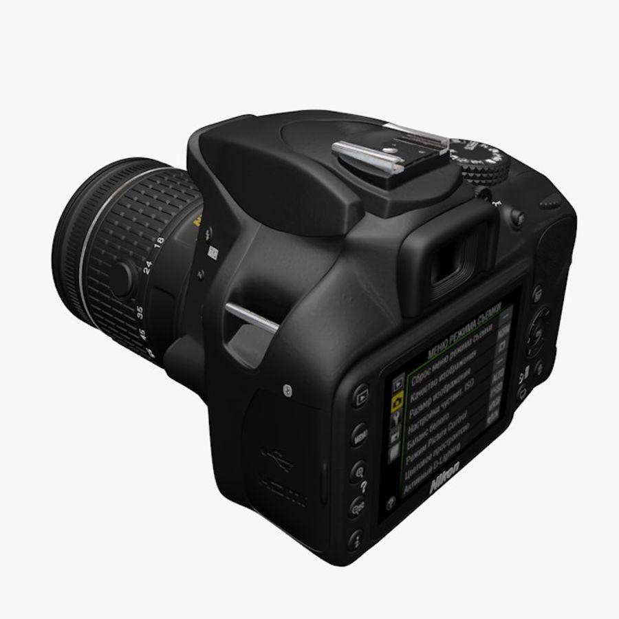 Nikon D3400 royalty-free 3d model - Preview no. 7