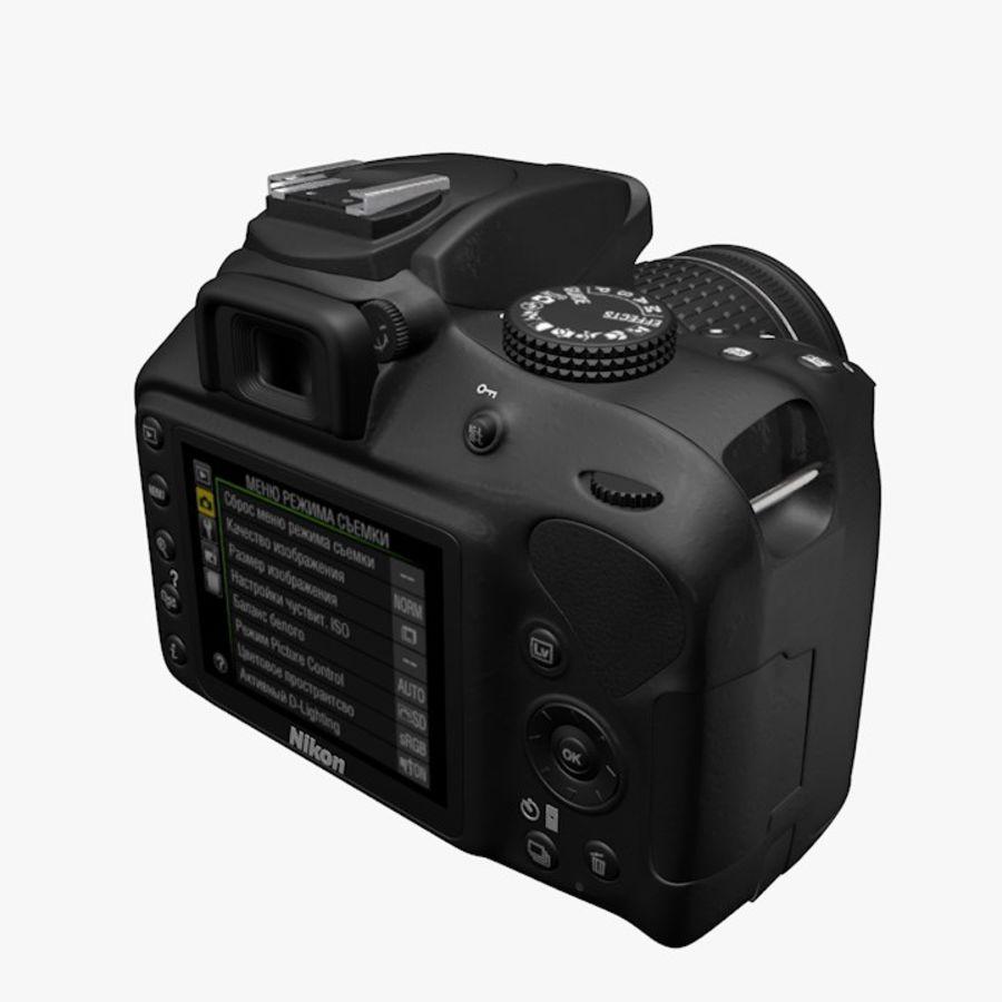 Nikon D3400 royalty-free 3d model - Preview no. 8