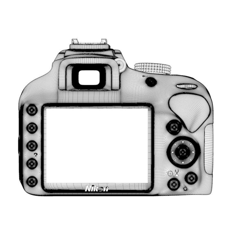 Nikon D3400 royalty-free 3d model - Preview no. 18