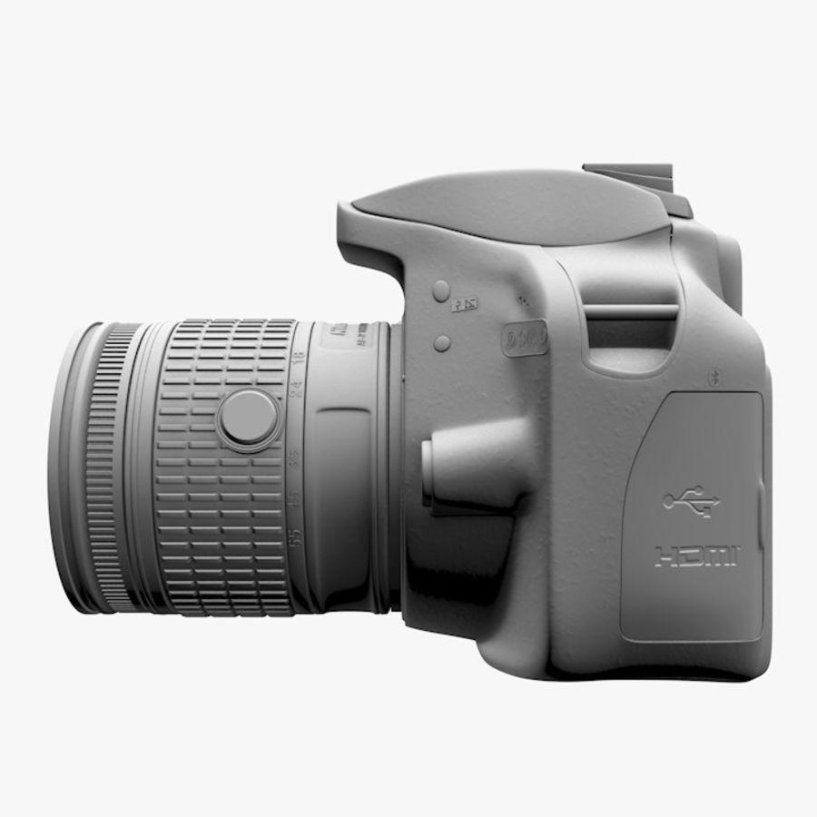 Nikon D3400 royalty-free 3d model - Preview no. 13