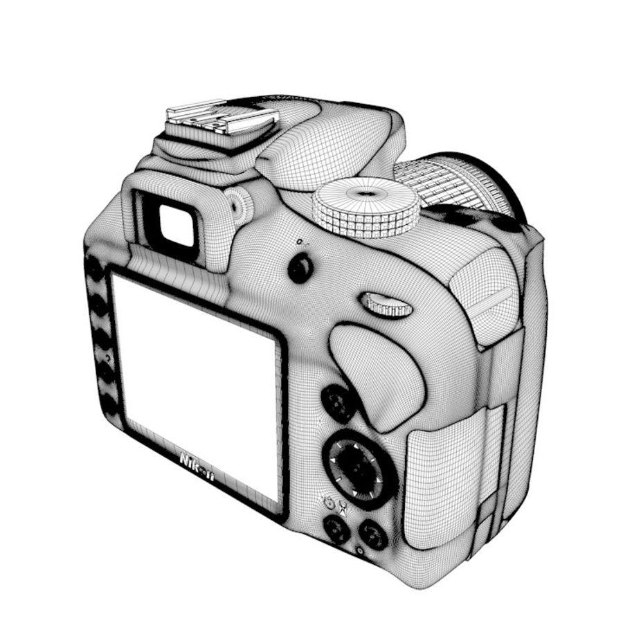 Nikon D3400 royalty-free 3d model - Preview no. 23