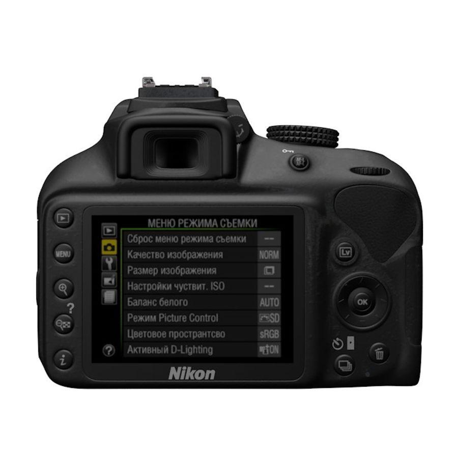 Nikon D3400 royalty-free 3d model - Preview no. 3