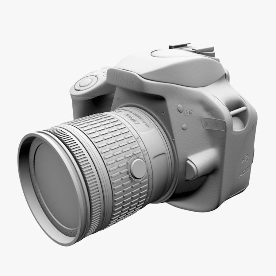 Nikon D3400 royalty-free 3d model - Preview no. 17