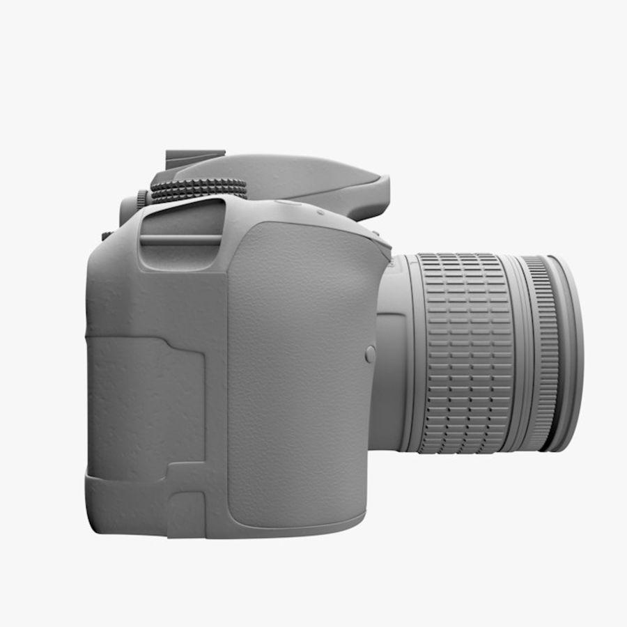 Nikon D3400 royalty-free 3d model - Preview no. 11