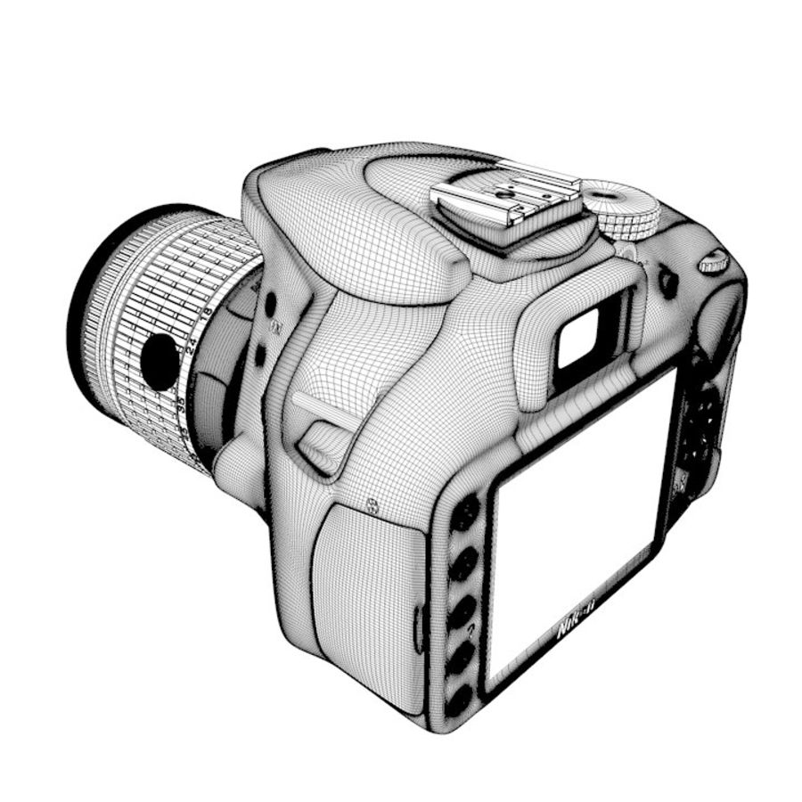 Nikon D3400 royalty-free 3d model - Preview no. 22