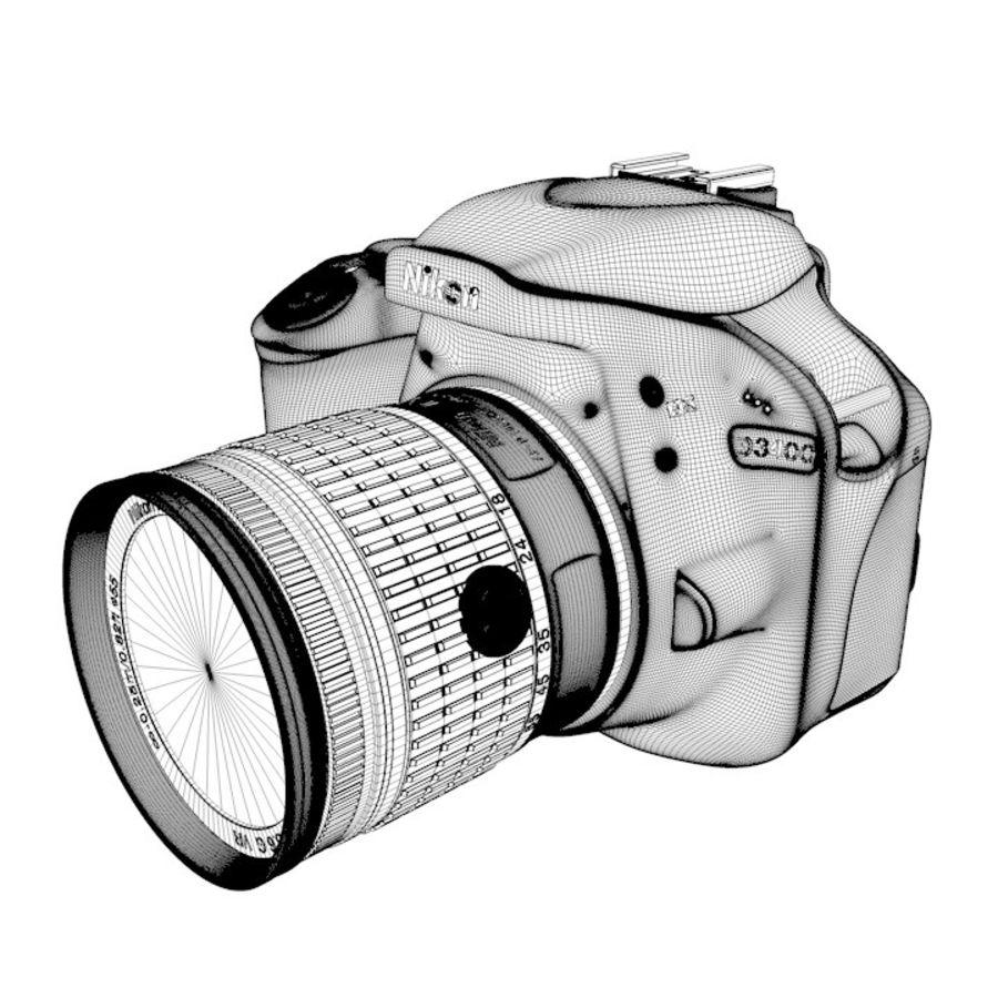Nikon D3400 royalty-free 3d model - Preview no. 25