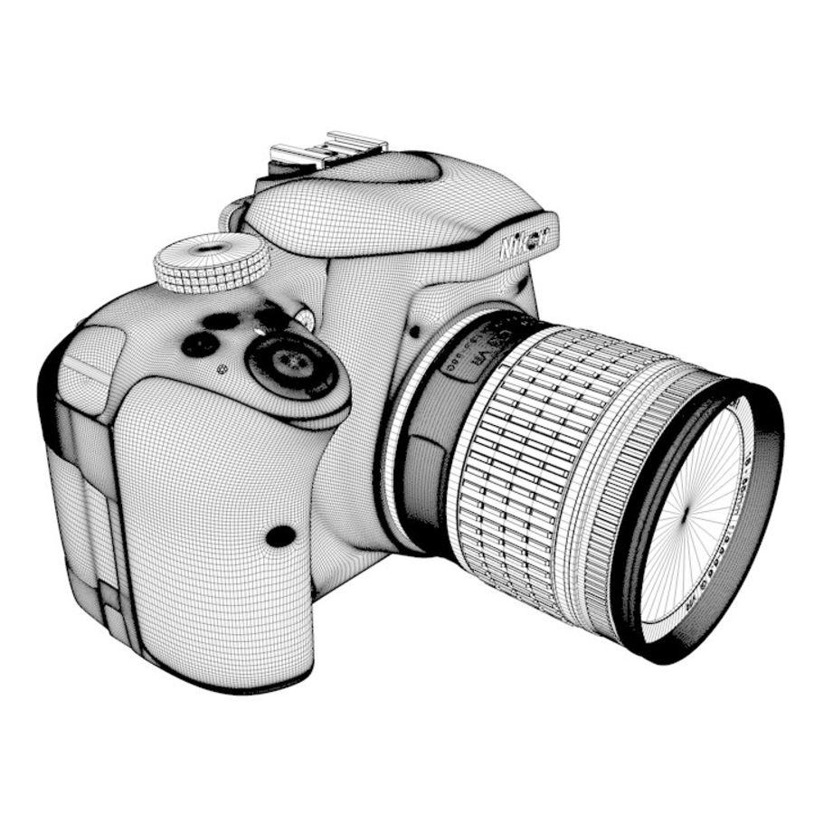 Nikon D3400 royalty-free 3d model - Preview no. 24