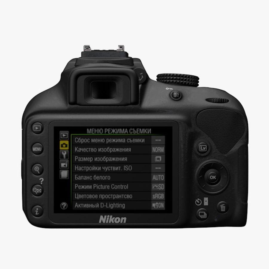 Nikon D3400 royalty-free 3d model - Preview no. 2