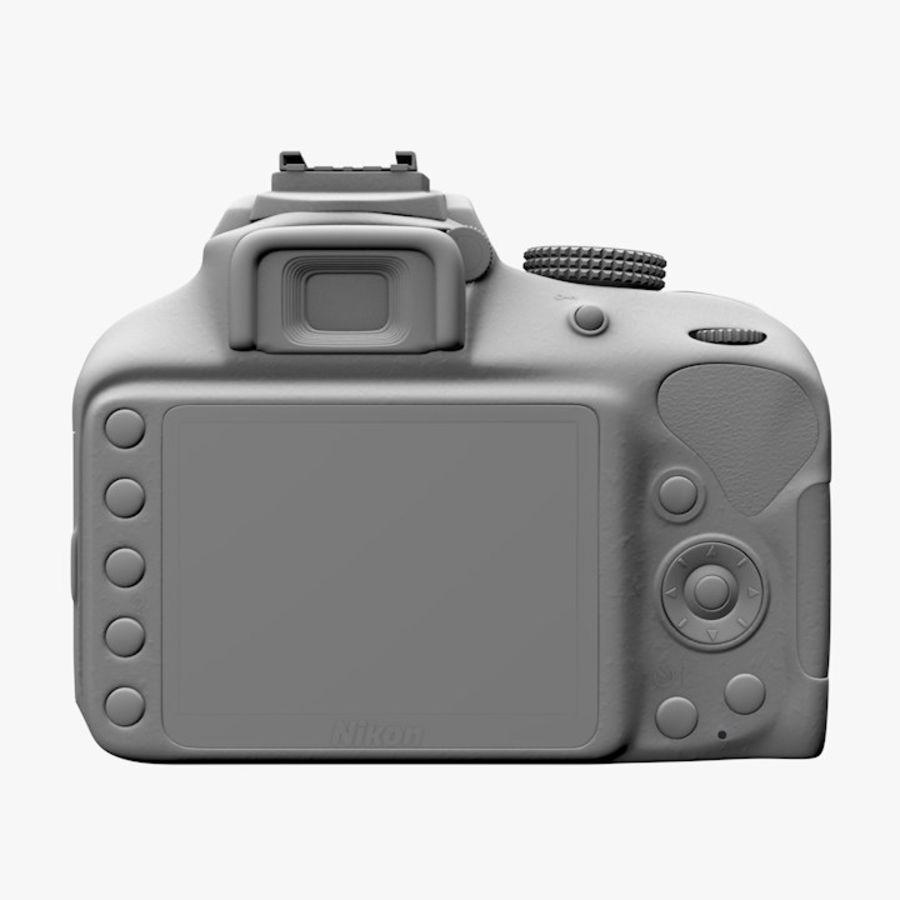 Nikon D3400 royalty-free 3d model - Preview no. 10