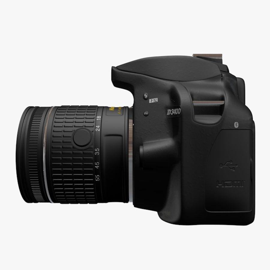 Nikon D3400 royalty-free 3d model - Preview no. 6
