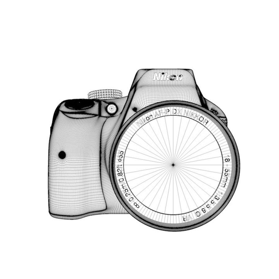 Nikon D3400 royalty-free 3d model - Preview no. 20