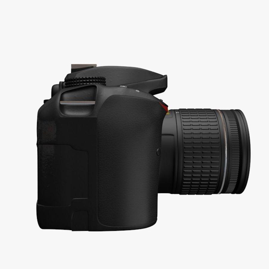 Nikon D3400 royalty-free 3d model - Preview no. 4
