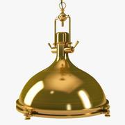 Retro Industrie Gold Pendelleuchte 3d model