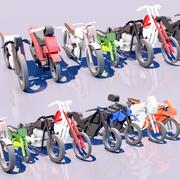MOTORCYCLE 10 PACK 3d model