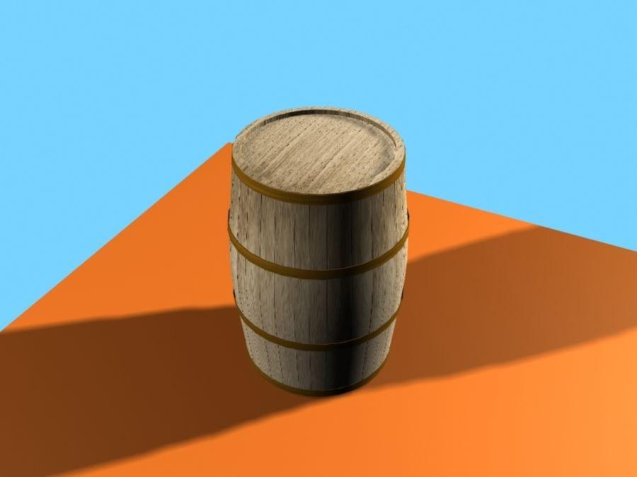 Barrel Wood royalty-free 3d model - Preview no. 3