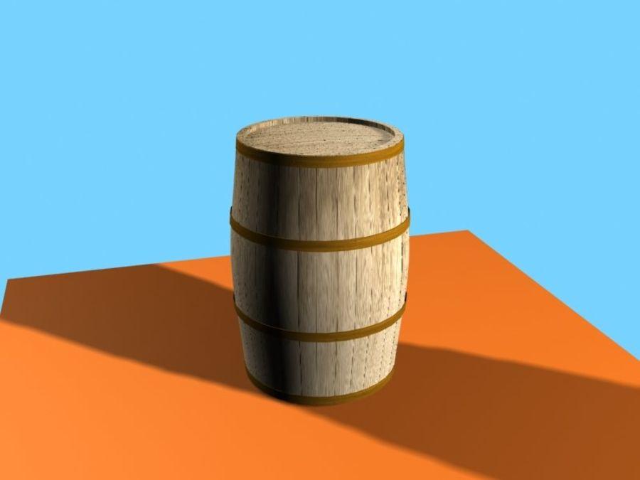 Barrel Wood royalty-free 3d model - Preview no. 5