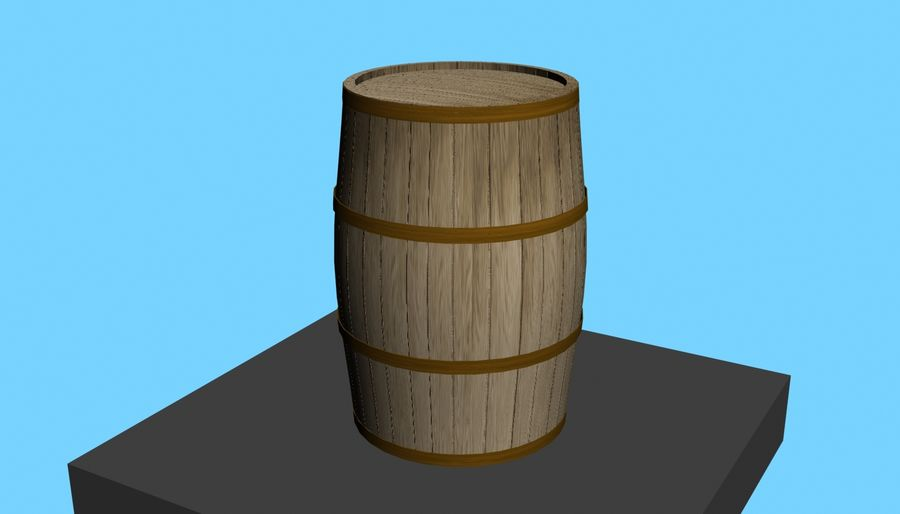Barrel Wood royalty-free 3d model - Preview no. 1