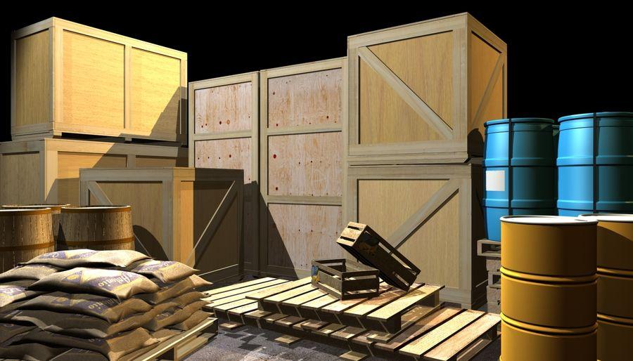 Barrel Wood royalty-free 3d model - Preview no. 2